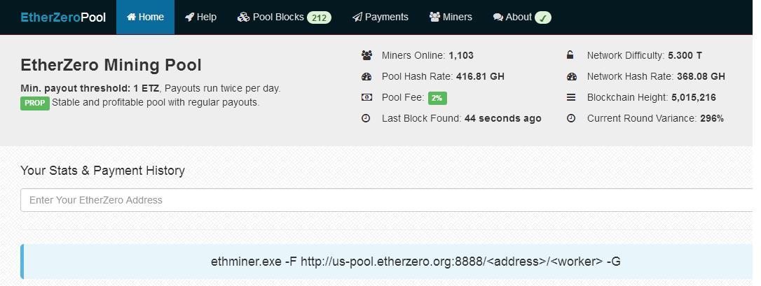 EtherZeto pool and power